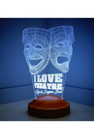 Sevgi Lambası 3D Led Lamba Tiyatro Maskeleri LED Lamba