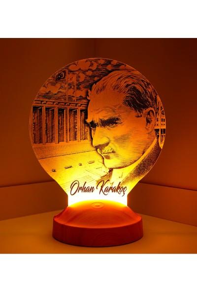 Sevgi Lambası 3D Görünümlü Atatürk Anıtkabir Led Lamba