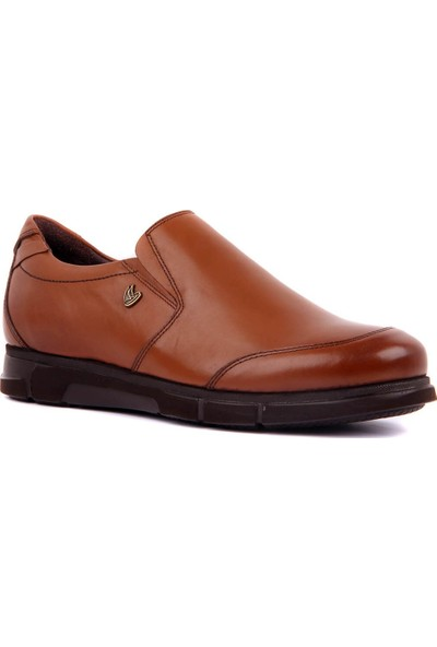 Sail Laker's - Taba Deri Bağcıksız Erkek Günlük Ayakkabı
