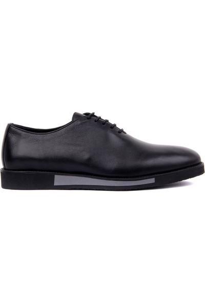 Sail Laker's - Siyah Deri Bağcıklı Erkek Günlük Ayakkabı