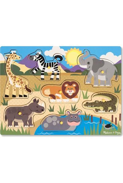 Melissa&Doug Ahşap Tutmalı Yapboz - Safari