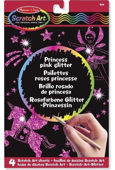 Melissa&Doug Kazıma Sanatı - Renkleri Ortaya Çıkar - Prenses - Işıltılı Pembe