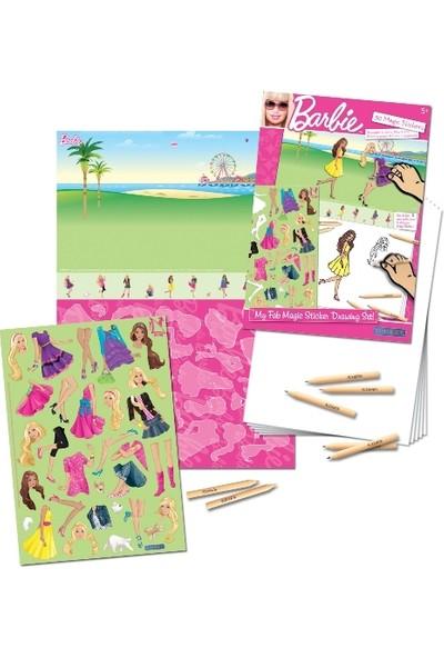 Uniset Sihirli Çıkartma Birleştir - Çiz - Boya - Barbie