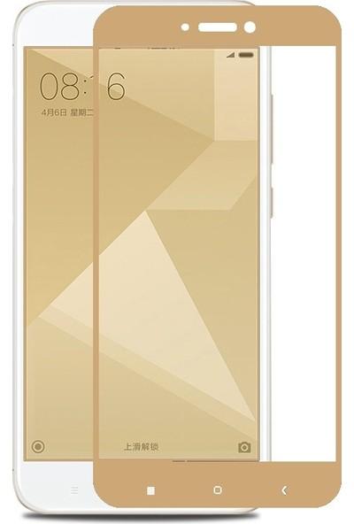 Sonmodashop Xiaomi Redmi 4x Tam Ekran Gold 3D Temperli Cam Ekran Koruyucu