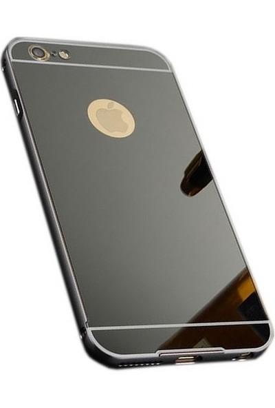 Sonmodashop iPhone 6 Metal Aynalı Kılıf + Ekran Koruyucu Cam