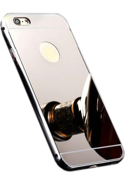 Sonmodashop iPhone 6S Plus Metal Aynalı Kılıf + Ekran Koruyucu Cam