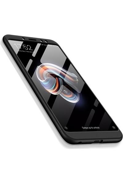 Sonmodashop Xiaomi Redmi Note 5 Pro Kılıf 360 Tam Koruma Mat Plastik + Nano Cam