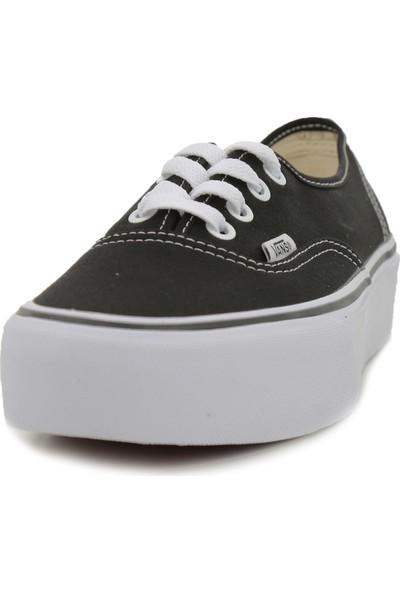 Vans Vn0A3Av8Blk1 Ua Authentic Platform 2.0 Unisex Günlük Ayakkabı Siyah
