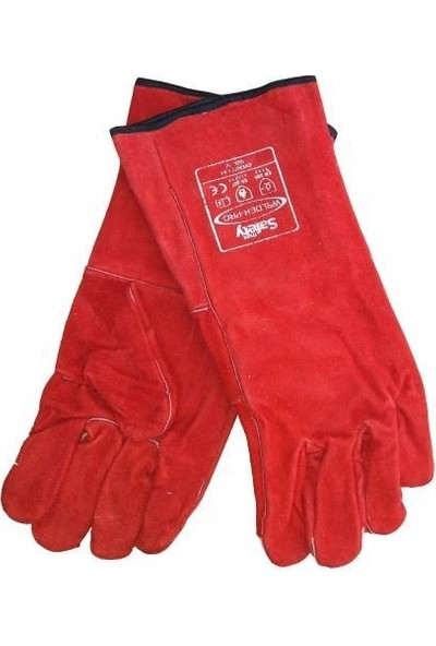 Max Safety Kaynakçı Eldiveni Kırmızı