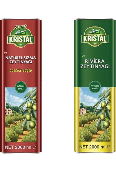 Kristal Dolgun Güçlü Natural Sızma 2lt + Riviera 2lt Set
