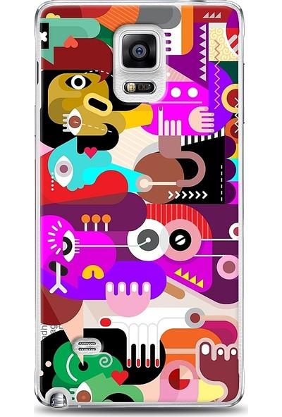 Eiroo Samsung Galaxy Note 4 Modern Art Kılıf