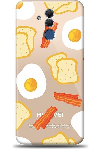 Eiroo Huawei Mate 20 Lite Breakfast Baskılı Tasarım Kılıf