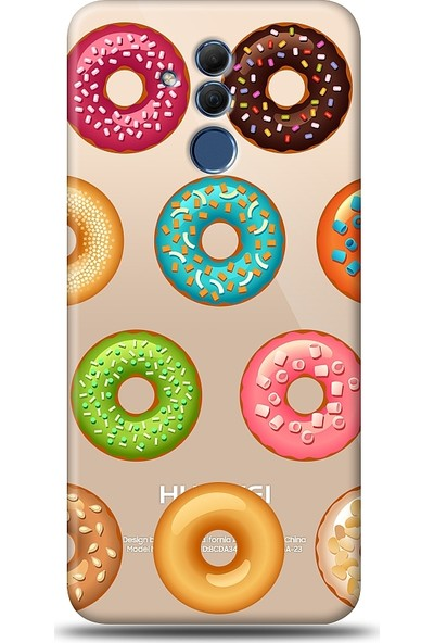 Eiroo Huawei Mate 20 Lite Donuts Baskılı Tasarım Kılıf