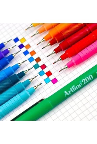 Artline 200 İnce Uçlu (0.4 mm) Yazı Ve Çizim Kalemi Koyu Kırmızı