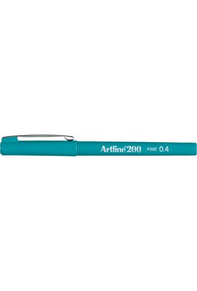 Artline 200 İnce Uçlu (0.4 mm) Yazı Ve Çizim Kalemi Turkuaz