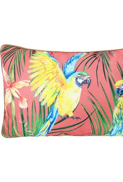 Altıncı Cadde Tropik Yastık Parrot Pembe 50x30Cm