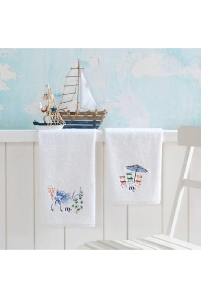 Marıe Claıre Havlu Oceane 2 Li Set Beyaz