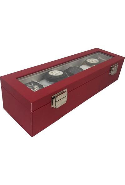Standmarket 5'li Saat Kutusu Kırmızı