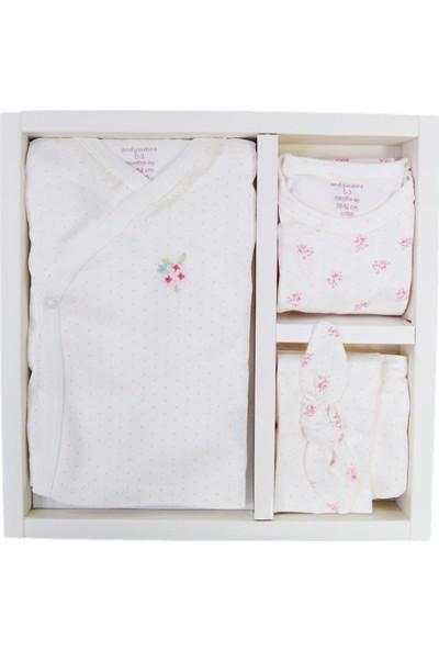 Andywawa Pink Floral Set 5'Li Hastane Çıkış Seti Ac9230