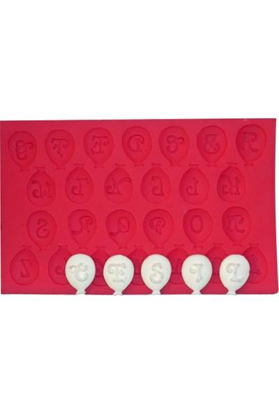 Cesil Balon Alfabe Kokulu Taş ve Sabun Kalıbı (10*16Cm)