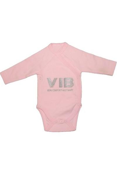 Uygun Bebe Very Important Baby Yenidoğan Kız Bebek Çıtçıtlı Body