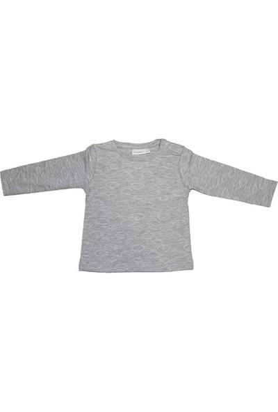Uygun Bebe Bulut Desenli Unisex Bebek T-Shirt