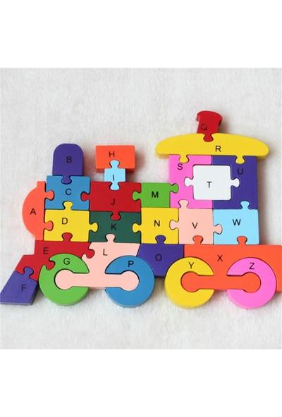 Pi İthalat Ahşap Puzzle Tren Figürlü Yapboz