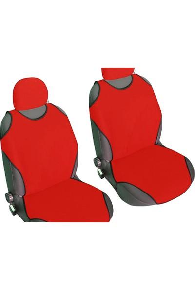 Pi İthalat Kolay Takılabilen Oto Atlet Koltuk Kılıfı 2 Li Set (Kırmızı)