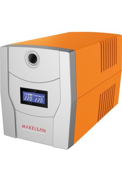 Makelsan Lıon X 1500Va Lcd Ekranlı Uzun Ömürlü Akü (2X 9Ah) 5-10Dk Usb Giriş + Tkz-63A Kablo + Tkz Pad