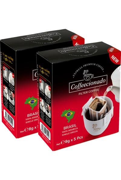 Coffeecionado Pratik Filtre Kahve 10lu Brasil/Single Origin