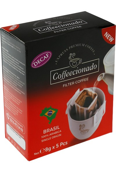 Coffeecionado Pratik Filtre Kahve 5li Decaf Brasil