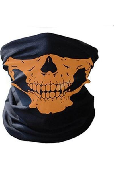 Solfera Turuncu Kurukafa Çok Amaçlı Boru Bandana Maske Bd013