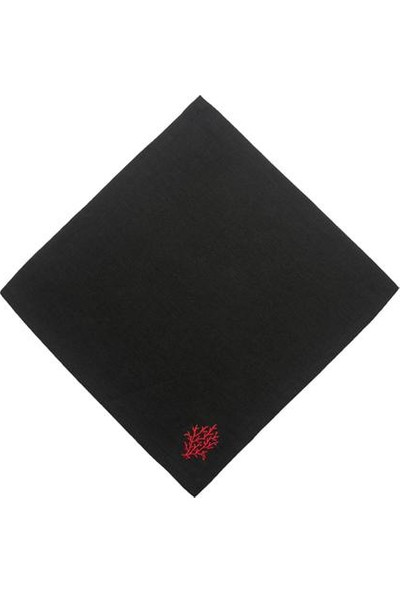 Azur Siyah Peçete Mercan