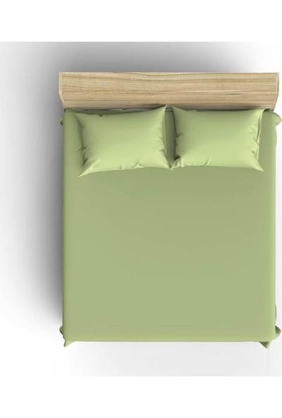 Yeşil 100x200cm Tek Kişilik Lastikli Çarşaf Seti