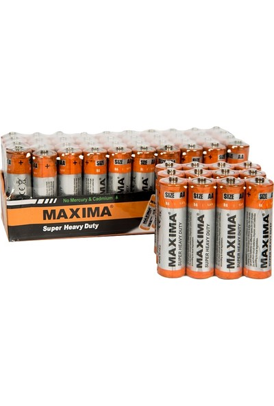 Maxima R6 1.5V AA Çinko Karbon (S.Heavy Duty) Kalem Pil 12'li paket