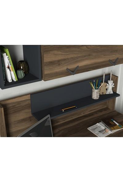 Dekorister Exclusive Bumerang Çalışma Masası Ceviz-Antrasit