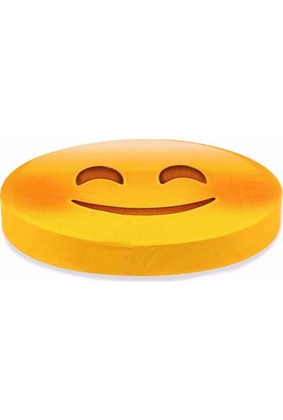 Olunca Gülücük Emoji Tasarım Daire Minder Ø40
