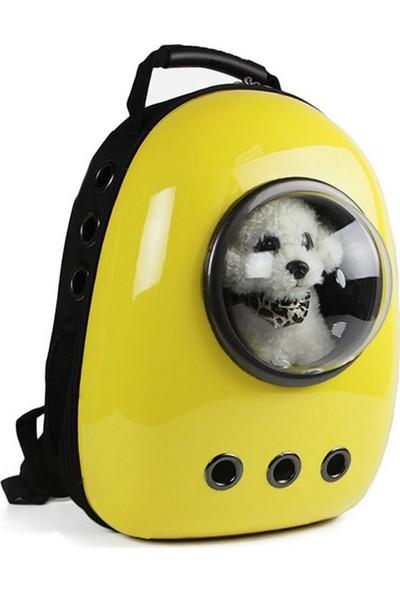 Astronot Kedi Köpek Taşıma Çantası 43x23x29 Cm Sarı