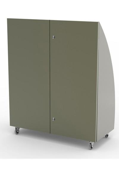 Roka Design Greenbin Tri Paslanmaz Çelik Üç Bölmeli Geri Dönüşüm Ünitesi 210 Li