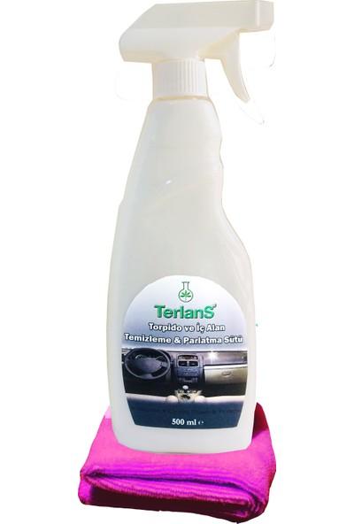 Terlans Parfümlü Torpido Parlatıcı ve İç Alan Temizleme & Parlatma Sütü 500 ml + Mikrofiber Bez Hediye