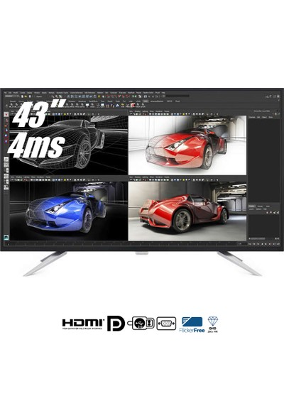 "Philips BDM4350UC/00 43"" 5ms (Analog+DVI-D+MHL/HDMI) 4K UHD IPS Monitör"