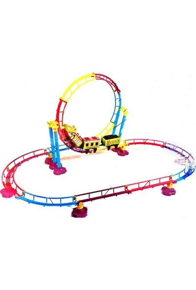 Mfy Toys Takla Atan Oyuncak Tren Roller Coster Erkek Oyun Seti Pilli Tren
