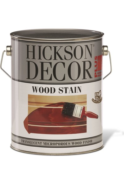 Hickson Dekor Plus Wood Stain Walnut 1 Lt Ahşap Boyası Sovent Bazlı