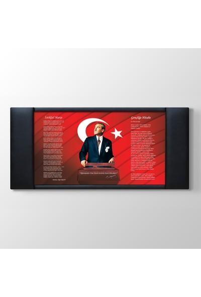 Areksan Atatürk Resimli Okul Kurum Özel Sektör Makam Arkası Panosu