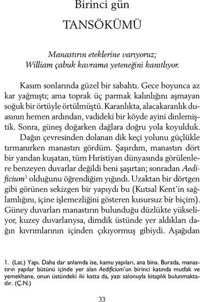 Gülün Adı - Umberto Eco