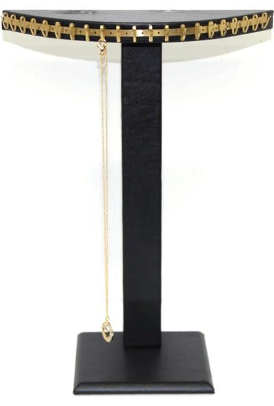 Aydindecor Deri Tırnaklı Yükseklik: 26 Cm Zincir Kolye Standı