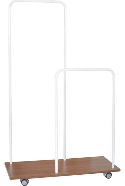 Boo Hanger Modern Dilsiz Uşak Metal Askılık Beyaz