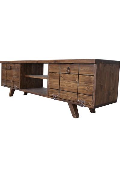 Dekoriz Wood Modern Ahşap Tv Ünitesi