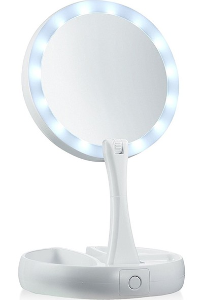 Kochler Fold Away Işıklı Çift Taraflı Makyaj Aynası