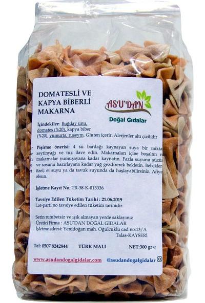 Asudan Doğal Gıdalar Domatesli ve Kapyabiberli Papyon Makarna 300gr